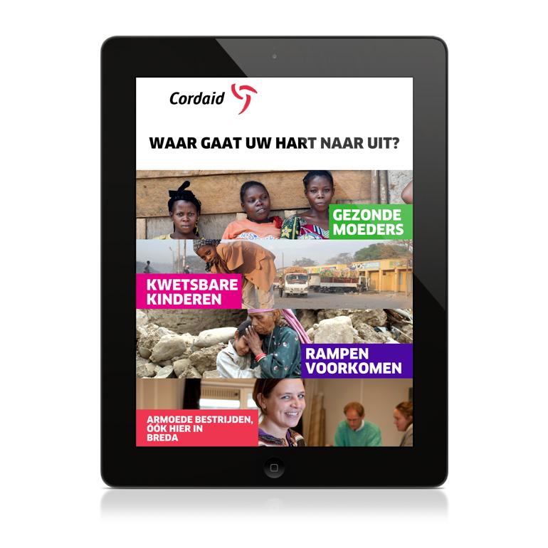 iPad werf-App voor Cordaid Nederland